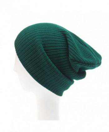 Menglihua Unisex Soft Trendy Slouchy Winter Ski Snowboard Skull Hat Ribbed Beanie - Green - C412MZCG949