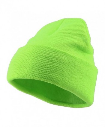 Classic Safety Cuff Beanie - Fluorescent Green - CI112WHUXET