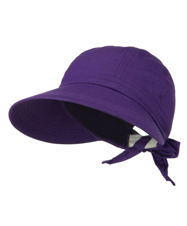 JFH Women's Classic Quintessential Sun Wide Visor Hat in Sold Bold Colors - Purple - CD11LBM5481