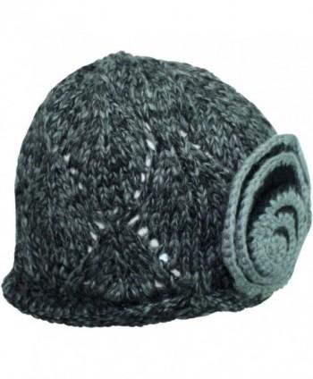 Black Beautiful Crochet Knit Beanie