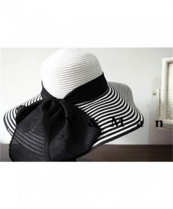 Womens womens summer bowknot stripe in Women's Sun Hats