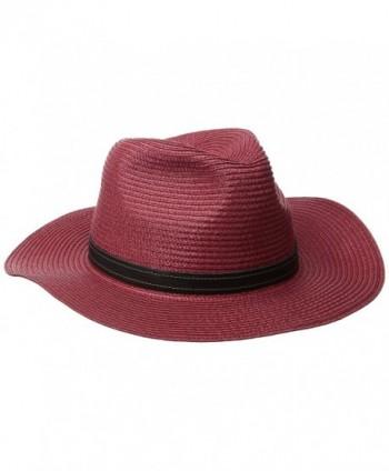 Goorin Bros. Women's Dawn Wide Brim Braided Hat - Red - CL1277GH6ZD