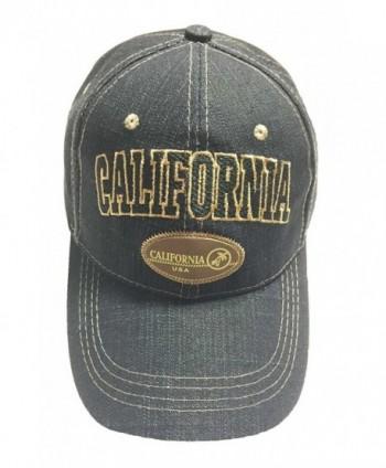 Aesthetinc California Denim Black Baseball Cap - CC11WS35FE5