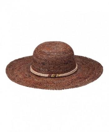 Peter Grimm Womens Beach Getaway Resort Hat - Dark Brown - CJ11BR5AMIX