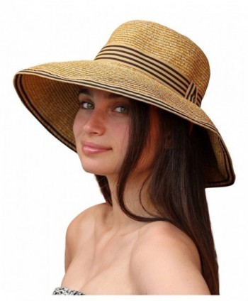 Palms & Sand Napa Women's Sun Hat with UV Protection (Natural) - CD12GZD0JUD