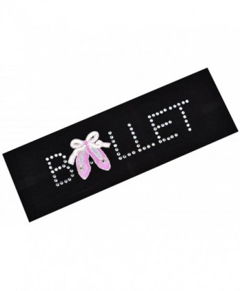 BALLET SLIPPER Rhinestone Stretch Headband - Black - CI11P98JWTZ