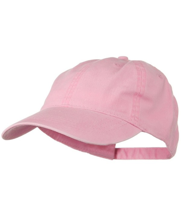 Washed Solid Pigment Dyed Cotton Twill Brass Buckle Cap - Pink - CQ11918IXWB