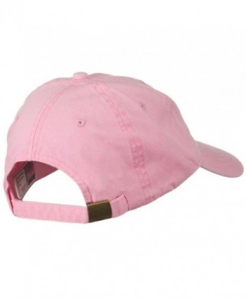 Washed Solid Pigment Cotton Buckle in Women's Baseball Caps