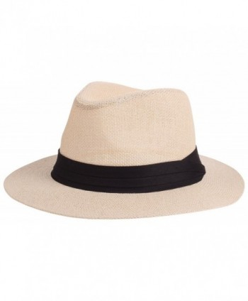 995e2423b45bd2 Enimay Vintage Unisex Fedora Hat Classic Timeless Light Weight - Classic  Beige - CS185WH8ZD3