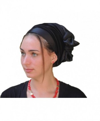 Sara Attali Design Tichel Full Hair Covering Snoods Lovely Turban One Size - Black - CK124FRXD0T