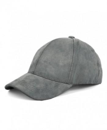 JOOWEN Unisex Faux Suede Baseball Cap Adjustable Plain Dad Hat For Women Men - Ash Grey - CT12EL625E9