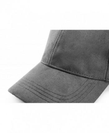 e7bd17133105ac Unisex Faux Suede Baseball Cap Adjustable Plain Dad Hat For Women ...