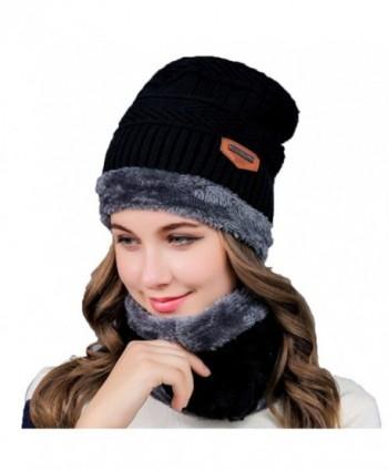Womens Slouchy Beanie Winter Hat Knit Warm Chunky Beanie Snow Ski Skull Cap - CN18840XQY2