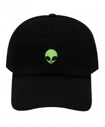 City Hunter C104 Alien Small Embroidery Cotton Baseball Cap 4 Colors - Black - CY12LUZ6WC5