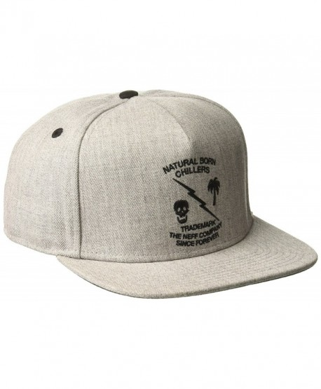 neff Men's Graphite Baseball Caps- Snapbacks and Trucker Hat - Grey Heather - CB17AAZLQSS