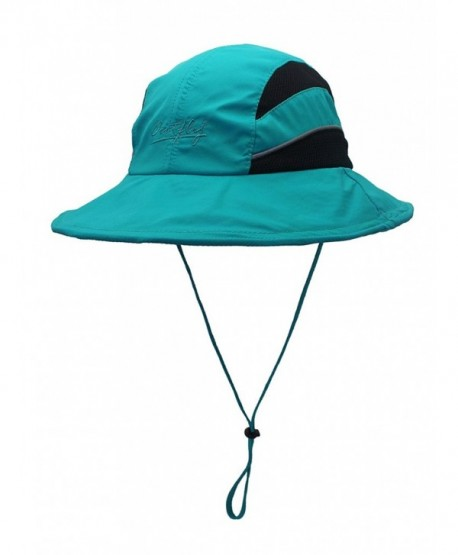 CHARLES RICHARDS CR Unisex Sun Hat UPF50 Wide Brim Quick Dry Bucket Hat Mesh Fishing Hat - Blue - CK185I6AY79