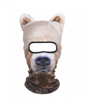 JIUSY 3D Animal Ears Fleece Thermal Hood Balaclava Neck Warmer Face Mask - Bear MDD-12 - CU189EUG49Z