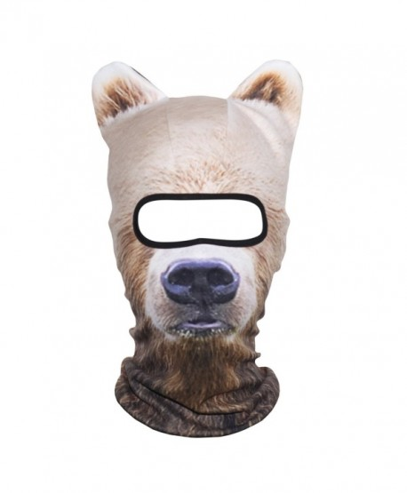 3d Animal Ears Fleece Winter Neck Warmer Wool Thermal Balaclava Cold Weather Full Face Mask Snowboard Bicycle Halloween Party Men's Skullies & Beanies