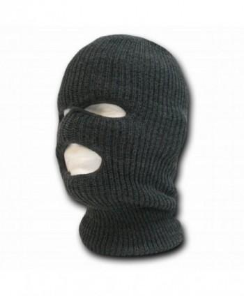 Decky 3 Hole Knit Ski Mask Cap Beanie - Charcoal Grey - CW11BYOJ3SN