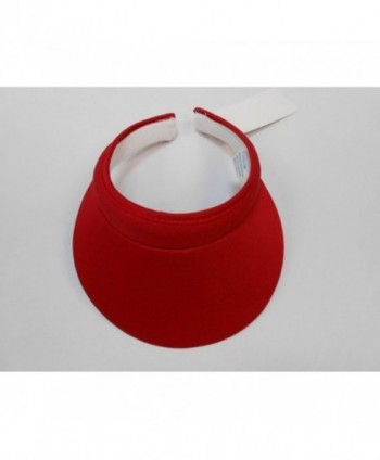 Cushees 233R Cotton Clip on Visor Red - CS11CZB0QUN