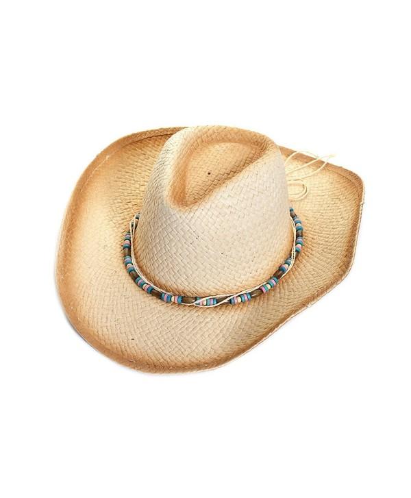 LL Womens Straw Sun Hats Wide Brim UV UPF Summer Protection Best Beach Fashion - Ombre Fedora Straw Hat - C0183N6Z6S7