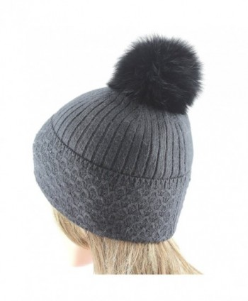 EL COUTURE Rhinestones Pom Removable Beanies