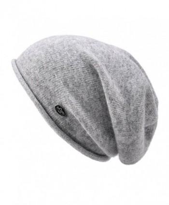 Womens Beanie Wool Winter Hat Knit Beanies Cap Fall Winter Slouchy Hat - Light Grey - C117AZ7D9L7