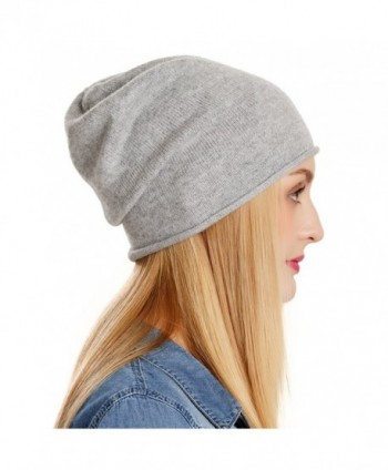 6e207263162df Womens Beanie Wool Winter Hat Knit Beanies Cap Fall Winter Slouchy Hat - Light  Grey -  ENJOYFUR Knitted Beanies Winter Slouchy  ENJOYFUR Knitted Beanies  ...