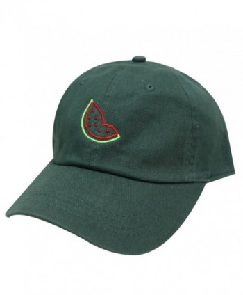 City Hunter C104 Watermelon Cotton Baseball Cap 13 Colors - Neon Sign Hunter Green - CS185KLMTMK
