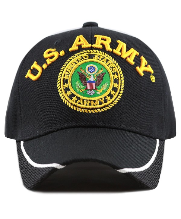 THE HAT DEPOT Official Licensed 3D Embroidered Military One Size Cap - Black Mesh-u.s. Army - CD1809YSG78