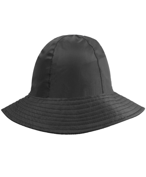 Luxury Divas Reversible Rain Or Sun Style Bucket Hat - Black - CB113RSH831
