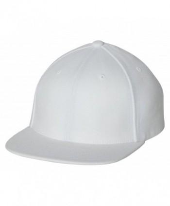 Flexfit - One Ten Flat Bill Snapback Cap - 110F - White - C511KC1J6LX