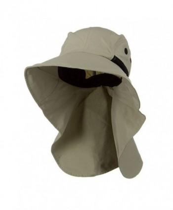 Juniper Men's Khaki Wide Brim Outdoor Sun Flap Hat - CB11W4SMSB7