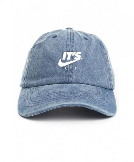 It's Lit Swoosh Denim Unstructured Dad Hat - CT12O3J418F