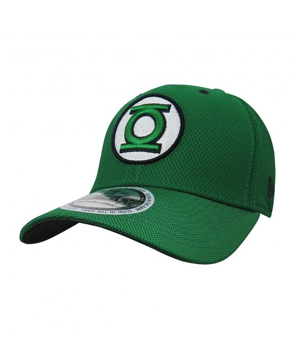 Green Lantern Logo Glow Armor 39Thirty Fitted New Era Hat - CD187QNOX8C