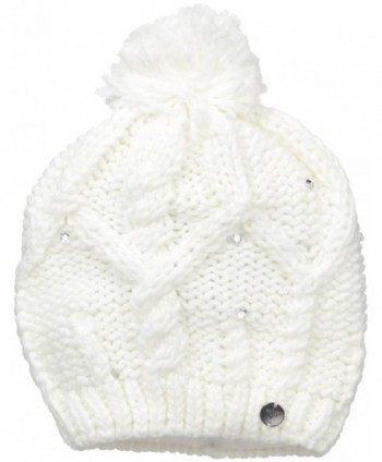 Roxy SNOW Junior's Shooting Star Pom Beanie - Bright White - CH12MGS8WYB