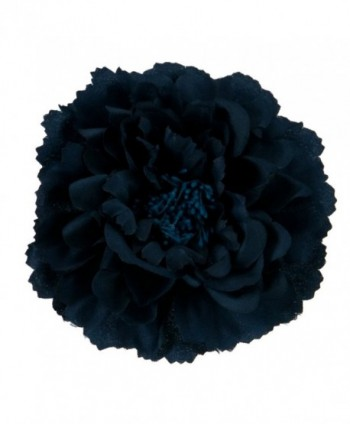 Multi Petal Flower with Pin and Clip - Navy W01S38A - CB11C0N8YHD