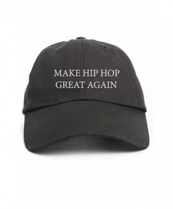 Make Hip Hop Great Again Custom Unstructured Dad Hat-Black - CP12NUDJQ8W