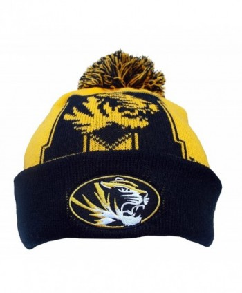 TOP OF THE WORLD Gridiron Cuffed Knit Hat with Pom - Mizzou Tigers - CI185HOLOKK