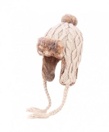 OMECHY Womens Peruvian Crochet Earflap