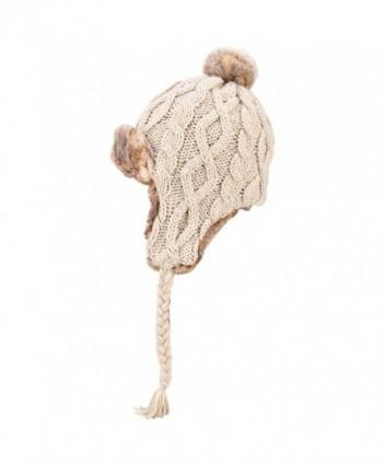 OMECHY Womens Peruvian Crochet Earflap in Women's Skullies & Beanies