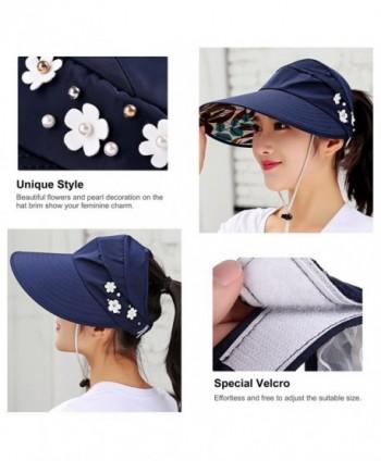 8679f6e6ab0 VBIGER Womens Visor Hat UPF 50+ Sun Protective Sun Hat Large Brim Summer  Beach Hat  Vbiger Anti UV Sunhat Foldable Sunproof  Vbiger Anti UV Sunhat  Foldable ...