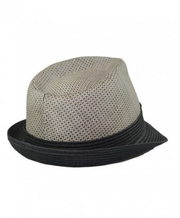 eBigValue Trilby Summer Fedora Medium in Men's Fedoras