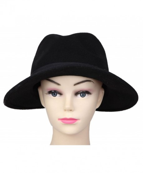 0e348bb1 JTC Women Panama Black Fedora Trilby Headwear Wool Jazz Hat Dance Cap -  CL11MHC4NRH
