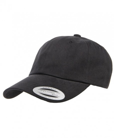 Yupoong Peached Cotton Twill Dad Cap- Black- One Size - CS17Z6EK5R3
