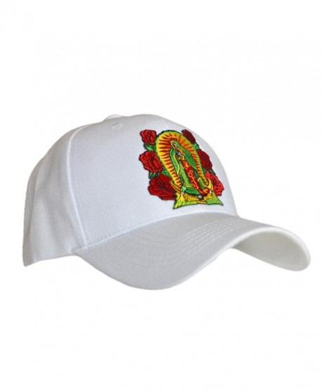 1831be95da6ab ShearFinesse Lady Guadalupe Virgin Mary Black or White Dad Hat w Velcro or  Buckle Strap