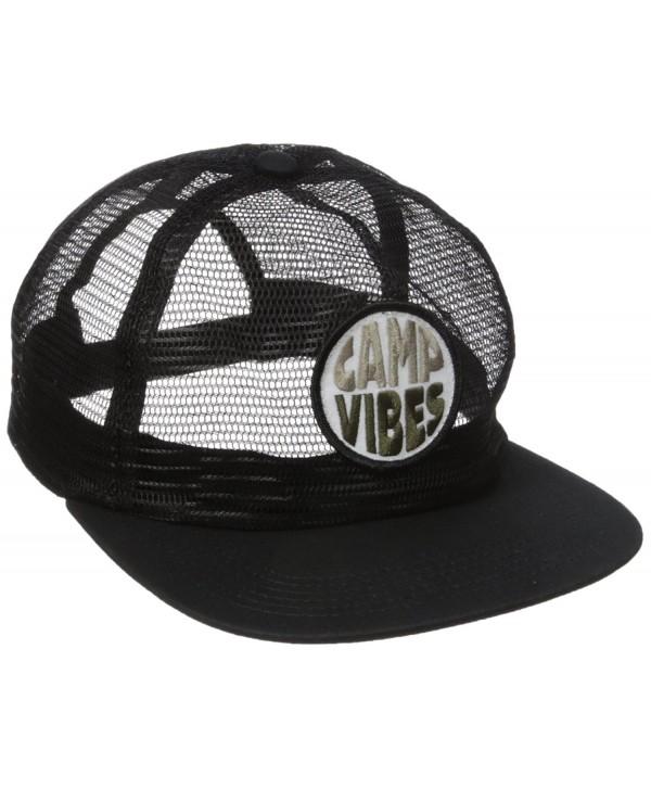 Poler Men's Pop Top Full Mesh Trucker Hat - Black - CC12G8VFQ7N