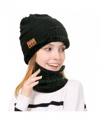 24417f8dc19 Wireless Bluetooth Beanie Scarf SET Fleece Lined Thick Knit for ...