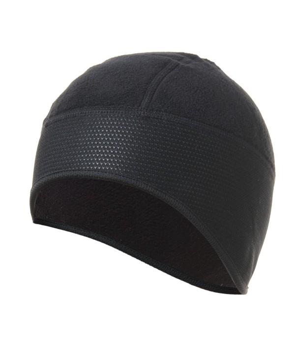 4ucycling Thermal Fleeced 10% Spandex Skull Cap and Helmet Liner Black - CJ1282IMKXN