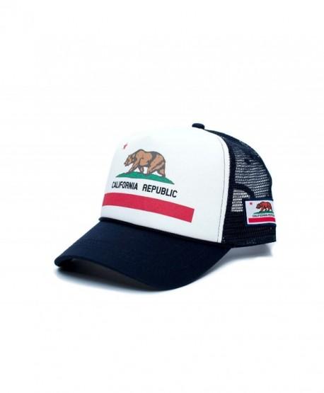 d39daf392ac01 ... closeout califirnia flag custom california republic state flag cali  unisex adult trucker hat multi navy 16876